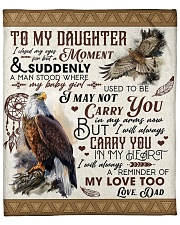 """I Close My Eyes For But A Moment Dad To Daughter Fleece Blanket - 50"""" x 60"""" front"""