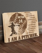 Personalized Name I Am Strong I'm a Pitcher 24x16 Gallery Wrapped Canvas Prints aos-canvas-pgw-24x16-lifestyle-front-04