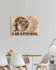 Personalized Name I Am Strong I'm a Pitcher 24x16 Gallery Wrapped Canvas Prints aos-canvas-pgw-24x16-lifestyle-front-20