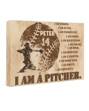 Personalized Name I Am Strong I'm a Pitcher 24x16 Gallery Wrapped Canvas Prints front