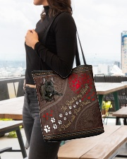 The Road To My Heart Is Paved With Paw French Bull All-over Tote aos-all-over-tote-lifestyle-front-04