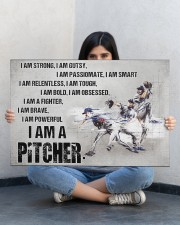 I'm Strong Gutsy Passionate Smart Baseball 30x20 Gallery Wrapped Canvas Prints aos-canvas-pgw-30x20-lifestyle-front-23