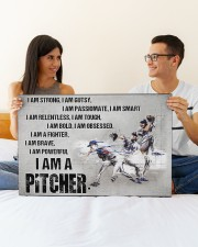 I'm Strong Gutsy Passionate Smart Baseball 30x20 Gallery Wrapped Canvas Prints aos-canvas-pgw-30x20-lifestyle-front-25