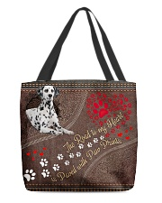 Dalmatian-dog-the-road-to-my-heart All-over Tote back