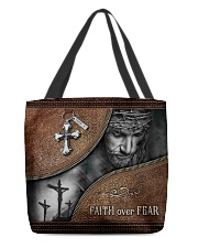 Faith Over Fear All-over Tote back