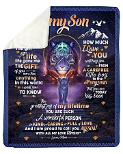 """I Didn't Give You The Gift Of Life Mom To Son Sherpa Fleece Blanket - 50"""" x 60"""" thumbnail"""