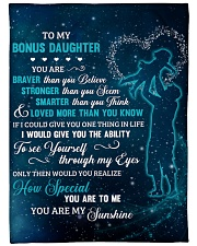To My Bonus Daughter U Are Braver Than U Believe Fleece Blanket tile