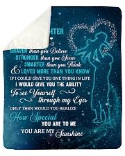 To My Bonus Daughter U Are Braver Than U Believe Sherpa Fleece Blanket tile