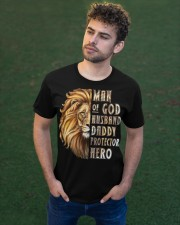 Lion Man of God Husband Daddy Protector Hero Classic T-Shirt apparel-classic-tshirt-lifestyle-front-43