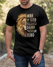 Lion Man of God Husband Daddy Protector Hero Classic T-Shirt apparel-classic-tshirt-lifestyle-front-53
