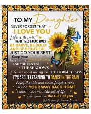 "Never Forget I Love U Sunflower Mom To Daughter Fleece Blanket - 50"" x 60"" front"