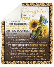 Never Forget I Love U Sunflower Mom To Daughter Sherpa Fleece Blanket tile