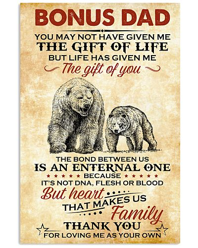 Bear Thanks For Loving Me As Your Own - For Dad