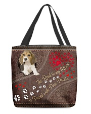 Beagle-dog-the-road-to-my-heart All-over Tote back
