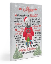 I Hugged This Blanket Xmas Daughter To Mom Gallery Wrapped Canvas Prints tile