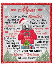 """I Hugged This Blanket Xmas Daughter To Mom Fleece Blanket - 50"""" x 60"""" front"""