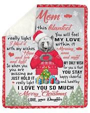 I Hugged This Blanket Xmas Daughter To Mom Sherpa Fleece Blanket tile