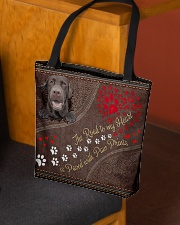 The Road To My Heart Paw Labrador Retriever All-over Tote aos-all-over-tote-lifestyle-front-02