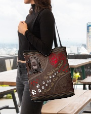 The Road To My Heart Paw Labrador Retriever All-over Tote aos-all-over-tote-lifestyle-front-04