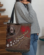 The Road To My Heart Paw Labrador Retriever All-over Tote aos-all-over-tote-lifestyle-front-09