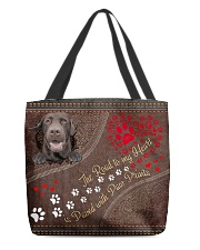 The Road To My Heart Paw Labrador Retriever All-over Tote back