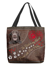 The Road To My Heart Paw Labrador Retriever All-over Tote front