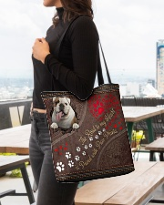 Bulldog-dog-the-road-to-my-heart All-over Tote aos-all-over-tote-lifestyle-front-04