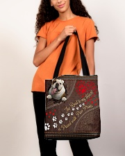 Bulldog-dog-the-road-to-my-heart All-over Tote aos-all-over-tote-lifestyle-front-06