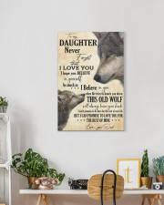 To My Daughter Love You For The Rest Of Mine 16x24 Gallery Wrapped Canvas Prints aos-canvas-pgw-16x24-lifestyle-front-18