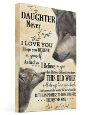 To My Daughter Love You For The Rest Of Mine 16x24 Gallery Wrapped Canvas Prints front