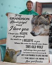 """To My Grandson Love U For The Rest Of Mine Sherpa Fleece Blanket - 50"""" x 60"""" aos-sherpa-fleece-blanket-50x60-lifestyle-front-05"""