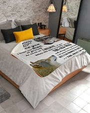 """To My Grandson Love U For The Rest Of Mine Sherpa Fleece Blanket - 50"""" x 60"""" aos-sherpa-fleece-blanket-lifestyle-front-02"""