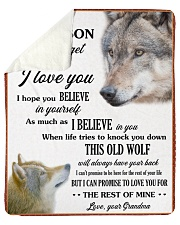"""To My Grandson Love U For The Rest Of Mine Sherpa Fleece Blanket - 50"""" x 60"""" front"""