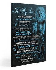 Today Is A Good Day Have Great Day Lion Dad To Son Gallery Wrapped Canvas Prints tile