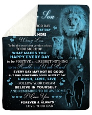 Today Is A Good Day Have Great Day Lion Dad To Son Sherpa Fleece Blanket tile