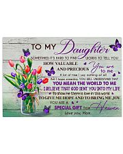 U Are Special Gift From Heaven Mom To Daughter Horizontal Poster tile