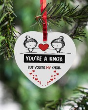 You're A Knob But You're My Knob Heart ornament - single (wood) aos-heart-ornament-single-wood-lifestyles-07