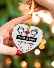 You're A Knob But You're My Knob Heart ornament - single (wood) aos-heart-ornament-single-wood-lifestyles-09
