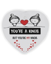 You're A Knob But You're My Knob Heart ornament - single (wood) front