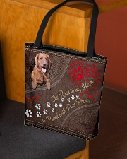 The Road To My Heart Is Paved Paw Golden Retriever All-over Tote aos-all-over-tote-lifestyle-front-02