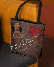 Vizsla-dog-the-road-to-my-heart All-over Tote aos-all-over-tote-lifestyle-front-02