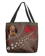 Vizsla-dog-the-road-to-my-heart All-over Tote back