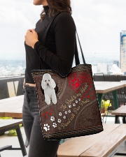 Poodle-dog-the-road-to-my-heart All-over Tote aos-all-over-tote-lifestyle-front-04