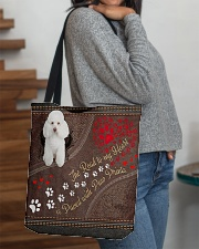 Poodle-dog-the-road-to-my-heart All-over Tote aos-all-over-tote-lifestyle-front-09