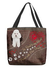 Poodle-dog-the-road-to-my-heart All-over Tote back
