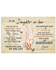 To Daughter-In-Law I Did Not Get To Choose U Honor Horizontal Poster tile