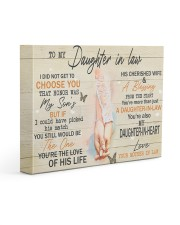 To Daughter-In-Law I Did Not Get To Choose U Honor 14x11 Gallery Wrapped Canvas Prints front