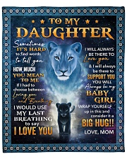 """Its hard to find word to tell Lion Mom To Daughter Fleece Blanket - 50"""" x 60"""" front"""