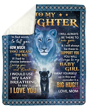Its hard to find word to tell Lion Mom To Daughter Sherpa Fleece Blanket tile