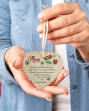 U Held My Hand For Many Year Daughter To Mom Heart ornament - single (porcelain) aos-heart-ornament-single-porcelain-lifestyles-01